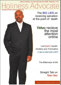 Holiness Advocate dummy cover page