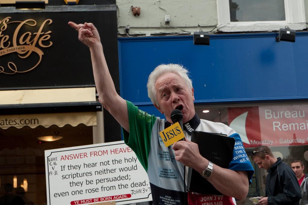 Jesus preacher in Dublin